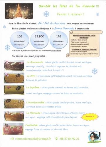 noel,nouvel an,dessert glacé,buche de noel,dessert de noel,fêtes de fin d'année,ferme Danneels, produits fermiers