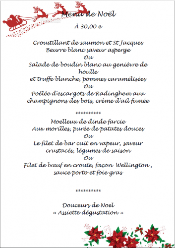resto,restaurant,escadrille,menu,noel,festivités,2016,fin d'année,fetes,joyeux noel,Bertrand